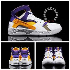 "Nike Air Flight Fab Five Huarache Sz 13 ""Kobe"" Retro Laker PE Jordan KD"