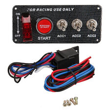 12V 5 in 1 Racing Car Engine Start Push Button Toggle Lgnition Switch Panel