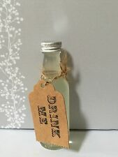 Wedding Favours 25 Miniature Empty Glass Spirit Bottles 50ml