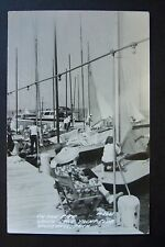 On the Pier WHITE LAKE YACHT CLUB, Whitehall, Michigan, RPPC postcard 1948