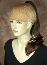 Wavy Hair Extension Ponytail In Dark Brown From Quality Wig Provider Fumi Wigs