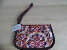 Cinda B. Small Zip Pouch w/Wrist Strap in Amore Pattern, New w/Tags