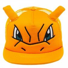 OFFICIAL POKEMON CHARIZARD FACE WITH EARS TRUCKER SNAPBACK CAP *BRAND NEW*