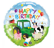 Barnyard Farm Tractor Animals Barn Hay Day  Birthday Party Balloon