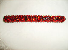 "FREE SHIP RED  GEMS SPARKLE PEN NEW Rhinestone Refillable Black Ink 5"" Long"