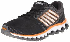K Swiss X-160 CMF TUBES Mens RUNNING Shoes size 9.5 NEW BLACK ORANGE MEMORY FOAM