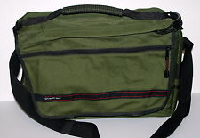 "Vintage Tamrac Large Laptop Case Camera Bag 16X12"" w/ Strap Compartments Green"