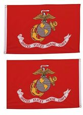 2x3 Marines EGA Marine Corps 2 Faced 2-ply Wind Resistant Flag 2x3ft