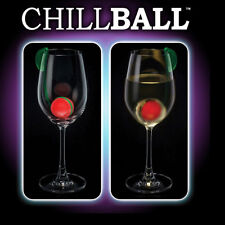 Wine Drinks Chiller Reusable Ice Cubes ChillBall Set of Two by Intelligent Ice