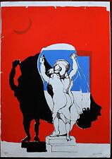 LUIGI GUERRICCHIO serigrafia FIGURA 1975 70x509 firmata e numerata