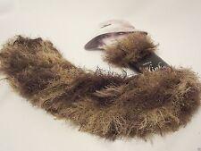 Sirdar SLINKY No Knit Scarf / Knitting Wool Yarn - 0006 TEDDY BROWN