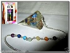 New Thick Orgone Pendulum Free Booklet Jet International crystal Therapy 4 Heali