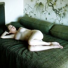 1960s Nude Pinup Lying on green blanket grandiose D breasts  8 x 8 Photograph