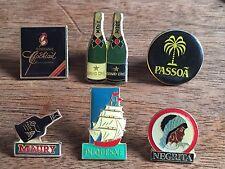 lot de 6  pin's Boissons alcool cocktail  vin doux dont sobranie black Russian