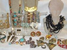 Vintage Jewelry Lot 35+ Items, Southwestern, Sterling, Turquoise, Beads, More