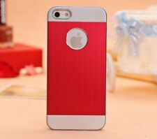 Brushed Aluminium iphone 5 i Phone 5s 5 Case Cover + Screen Protector + stylus