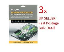 "3xTargus Blackberry Playbook LCD Screen Protector Bubble Free adhesive 7"" Tablet"
