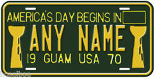 Guam USA 1970 Any Name Number Novelty Car License Plate C02