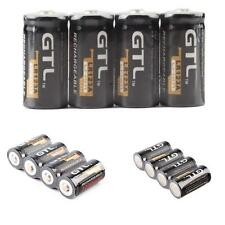 Practical 4 Piles GTL 16340 battery Accus Rechargeable CR123A LR123A 3V 1200mAh