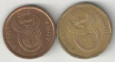 2 DIFFERENT COINS from SOUTH AFRICA - 5 & 50 CENTS (BOTH DATING 2008)