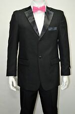 Men's Regular Fit Black Tuxedo Dress Suit Size 44S NEW Tuxedo