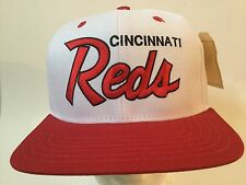 TISA Cincinnati Reds Gold Snapback Hat (Red)