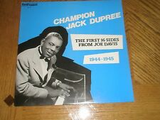 CHAMPION JACK DUPREE / JOE DAVIS FIRST 16 SIDES ~ 1944-1945 ~ EXCELLENT