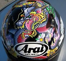 Arai RX-Q Oriental Black Dragon motorcycle helmet Hokusai wave. New production