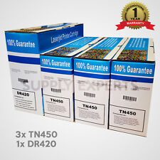 3x TN450 Toner 1x DR420 drum for HL-2240 HL-2270DW HL-2280DW MFC-7360N HL-2270DW
