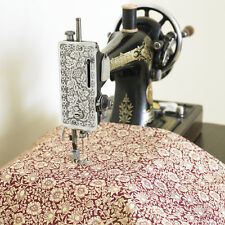 William Morris Mallow Wine Heavy Cotton Drill Floral Fabric By Half Metre