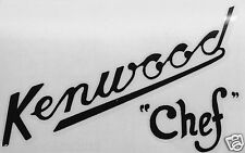 Kenwood Chef A700, 700A, 700B & 700D Decal Logo Transfer.