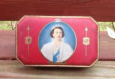 Vintage Majesty Queen Elizabeth Coronation Souvenir 1953 Bensons Toffee Tin Box