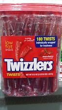 Twizzlers - Tub of 180 Individually Wrapped Strawberry Twists - New & Fresh