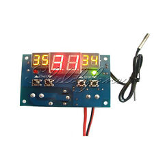DC 12V Digital Led Thermostat Temperature Controller -9°C-99°C Temp Sensor Probe