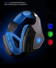 SADES A60 7.1 Sound USB Vibration Gaming Game Headphone Headset Mic 3 Colors LED