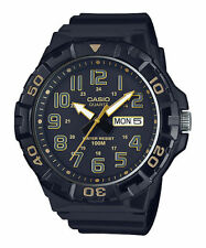 Casio Men's Black Resin Band, Oversized, 100 Meter, Day/Date, MRW210H-1A2V