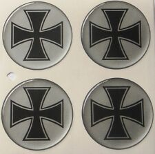 4 X  IRON CROSS   FELGENDECKEL AUFKLEBER  54 MM