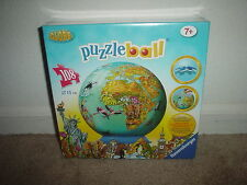 108 PC. RAVENSBURGER (3-D GLOBE - PUZZLEBALL - AGES 7 & UP) JIGSAW PUZZLE - NEW