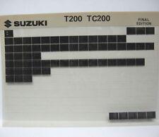 Suzuki T200 TC200 1967 1968 Parts Microfiche s219