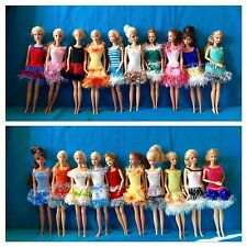 noel fille 20 robes de poupée barbie princesse chic unique fait main Nice France