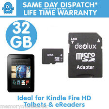 32 Gb Tf Micro Sdhc Sd Uhs Class10 Tarjeta De Memoria Para Amazon Kindle Fire Ereader Tab