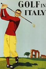 MAX Ninon Golf in Italy Poster Stampa d'Arte Immagine 91x61cm-SPEDIZIONE GRATUITA