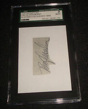 Dan Quisenberry 1985 Royals Signed Mounted Cut SGC Certified Slab Autograph