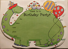 DINOSAUR BIRTHDAY PARTY INVITATIONS Kids Children Cute Boys Girls Fill-In NEW