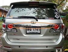 CHROME LINE STRIP TAILGATE TRIM FOR NEW TOYOTA FORTUNER 2012 2013 GENUINE PARTS