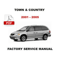 2001 - 2005 CHRYSLER TOWN AND COUNTRY FACTORY OEM SERVICE REPAIR WORKSHOP MANUAL