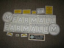 "Early Farmall  M  Decal Set  1939-1944  ""McCORMICK-DEERING FARMALL"""