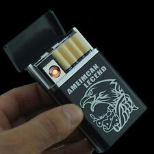 Neu Zigarettenetui Mit Feuerzeug  USB Aufladung Zigarettenbox für 8 Zigaretten