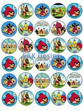 30 x Angry Bird SU RISO/wafer commestibile carta DECORAZIONI PER TORTA