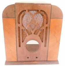 vintage MONTGOMERY WARD 62-140 TOMBSTONE  RADIO part: WOOD SHELL in GOOD SHAPE